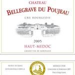 Etiquette Bellegrave du Poujeau 2005